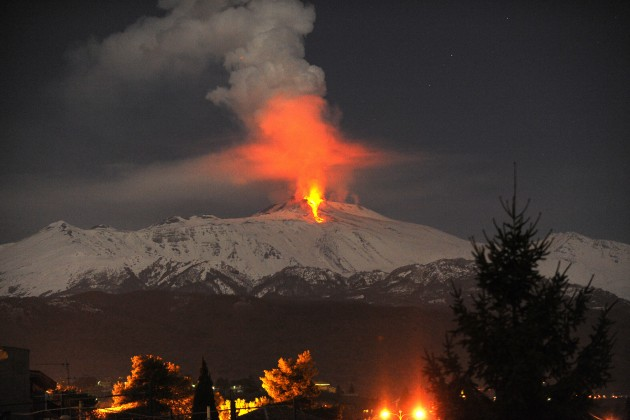 Italy Volcano Eruption