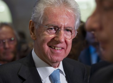 Italian premier Mario Monti: The cost of borrowing for Italy has fallen dramatically in a month. 