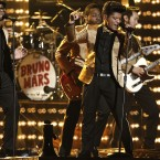 Bruno Mars performing at last night's Grammy Awards (AP Photo/Matt Sayles)
