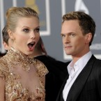 Taylor Swift and Neil Patrick Harris arriving at the Grammy Awards (AP Photo/Chris Pizzello)