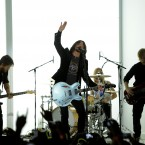 The Foo Fighters on stage during the Grammy Awards last night (AP Photo/Chris Pizzello)