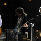 Paul McCartney, Dave Grohl and Brian Ray performing at the Grammy Awards (AP Photo/Matt Sayles)