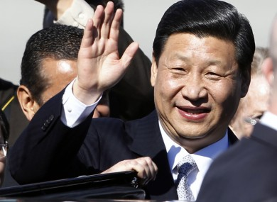 Chinese Vice President Xi Jinping in LA yesterday. He is due to arrive in Ireland this weekend.
