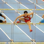 China's Lui Xiang on his way to winning the Men's 60m hurdles final. (PA)