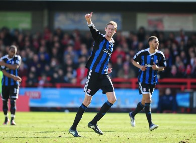 Crouch celebrates scoring Stoke's second goal.