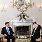 President Higgins and vice president Xi Jinping (Photo: Maxwells/PA Wire)