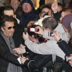 Al Pacino meets the fans as he attends the Jameson Dublin film festival showing of Wilde Salome at the Savoy Cinema. (Niall Carson/PA Images)