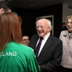 Higgins and his wife Sabina met Irish Paralympic athlete Michael McKillop and Rower Sarah Caffrey during the visit.