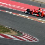 Felipe Massa during Formula 1 testing in Barcelona. Pic: PA