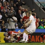 Wales' Triple Crowning glory was based on their defence. And central to that were the two flankers - not least with this last ditch mauling by Lydiate to deny Strettle an easy touchdown.