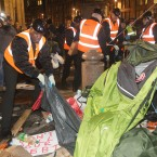 The Occupy camp at St Pauls Cathedral is evicted. Photo: Lewis Whyld/PA Wire