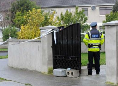 Garda at the scene earlier today.