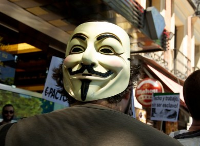 Hackers allied to the Anonymous movement have posted passwords used to access and edit pages on a website controlled by the Department of Foreign Affairs.