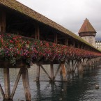This Medieval bridge spans the Reuss River and is the oldest wooden covered bridge in Europe - and the world's oldest surviving truss bridge (one of the oldest types of bridges). 