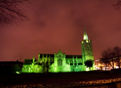 St Patrick's Cathedral goes green for St Patrick's Day weekend