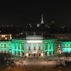 The spectacular City Hall (Burgtheather) in Vienna, Austria also turned green yesterday evening (Photo: Tourism Ireland)