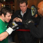 Macklin works with trainer Buddy McGirt.