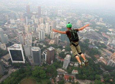 Warning: BASE jumping can be dangerous.