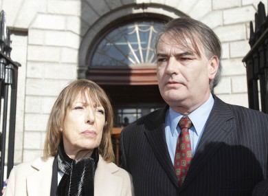 Bailey with his partner Jules Thomas outside the Supreme Court in Dublin yesterday