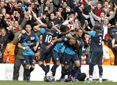 Robin van Persie delivers for jubilant Arsenal