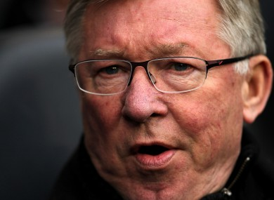 Alex Ferguson at White Hart Lane yesterday. 