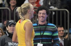 Don't give up the day job, Rory: Golf's number one serves it up to Sharapova
