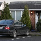 The house where the shooting took place. Pic: Niall Carson/PA Wire