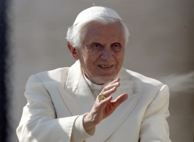 Pope Benedict at the Vatican this week