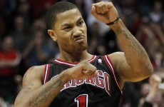 Derrick Rose hit this sick buzzer beater last night