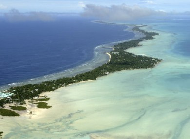 File photo of Tarawa atoll, Kiribati.