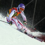 Austria's Michaela Kirchgasser skis during the first run of a women's Alpine Ski World cup giant slalom competition. (AP Photo/Alessandro Trovati)