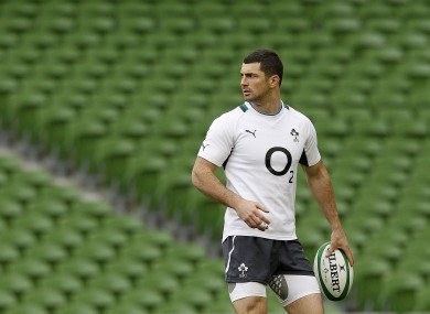 Ireland's Rob Kearney during the captains run at the Aviva Stadium on Friday.