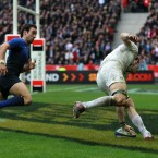 This back row is unbalanced and all beacuse of Croft's astounding pace to score what proved the winning try for this once-makeshift looking England side.