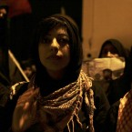 Bahraini human rights activist Zainab al-Khawaja participates in a march in support of her jailed father, Abdulhadi al-Khawaja, who is on hunger strike. (AP Photo/Hasan Jamali)