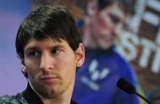 Goin' nowhere: Messi laughs off the idea that he might ever leave Barca