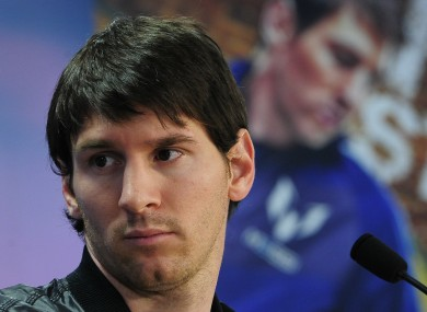 Lionel Messi at the launch of a new video game earlier this week.