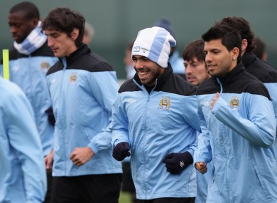 Tevez recently returned to training with City.