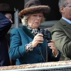 They're binoculars, Camilla. Pic: Tim Ireland/PA Wire/Press Association Images