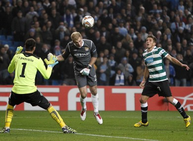 Joe Hart almost won it for City for with a last-minute header (see 22.29).