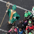 St Patrick does a meet-and-greet with his fans (Photo: Niall Carson/PA Wire)