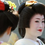 Japanese performers including a Geisha, Maikos and traditional performers, as well as UK living Japanese national from Wakayanagi school of Japanese dancing, take part in the Mayor of London's St Patrick's Day celebrations as ARIGATO (Thanks You) parade.