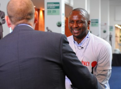 Vieira speaks to Roan yesterday.