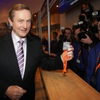Kenny picks up his pass Photo: Niall Carson/PA Wire