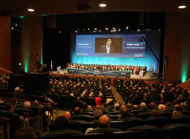 Delegates at the Fine Gael Árd-Fheis in Dublin.