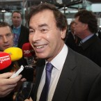 Minister for Justice Alan Shatter speaks to the media Photo: Niall Carson/PA Wire