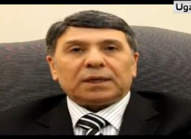 A still from the video where Abdo Hussameddine says he is joining the opposition