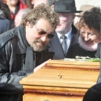 Brendan Grace pays his last respects. 