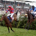 Balthazar King ridden by Richard Johnson wins the Glenfarclas Handicap Steele Chase.