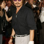 Actor Johnny Depp at the film premiere of