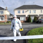 The Rochford estate in Kilcock has been largely sealed off for technical examination. Pic: Laura Hutton/Photocall Ireland